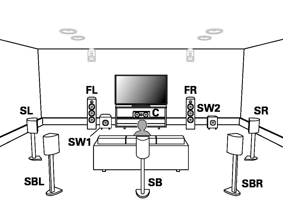 Установка акустической системы