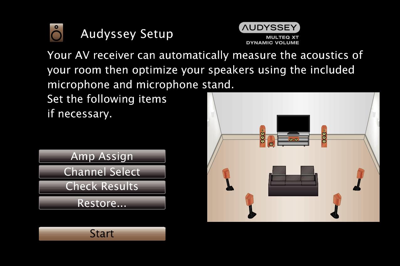 Procedure For Speaker Settings Audyssey Setup Sr5009 Eq To Reciever Wiring Diagram Gui Audysseysetup3 Multeq Xt Sr5009n