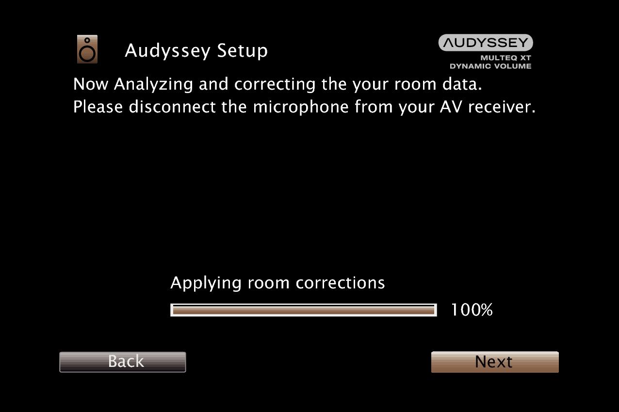 Procedure for speaker settings (Audyssey® Setup) SR6009
